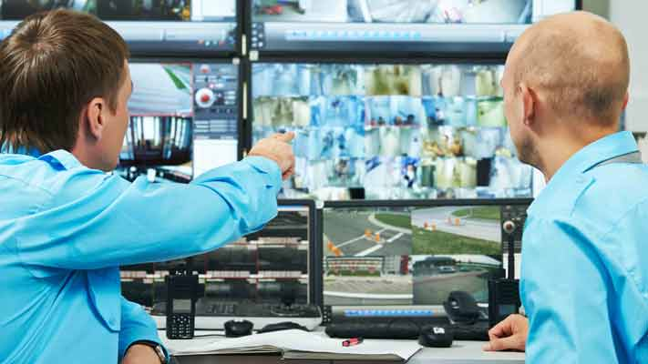 24-7 security monitoring control room for element security