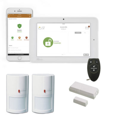 wireless home alarms plus alarm and monitoring package Qolsys IQ2-element security